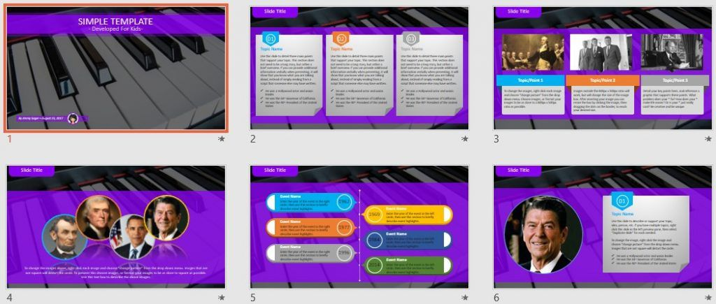 Simple Kids PowerPoint - piano by SageFox