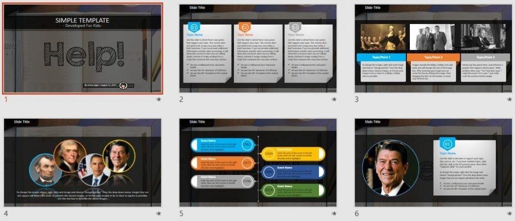 Simple Kids PowerPoint - Help by SageFox