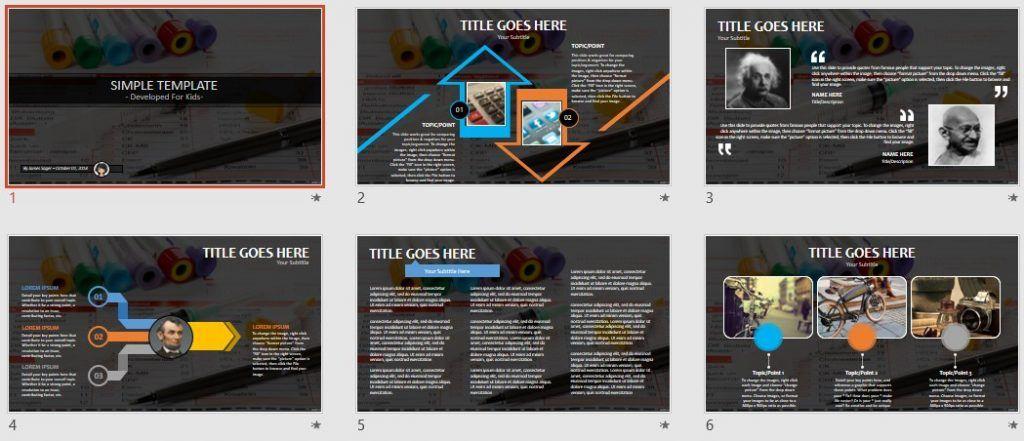 Simple Kids PowerPoint - blood test by SageFox