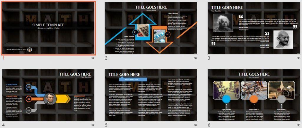 Simple Kids PowerPoint - Math by SageFox