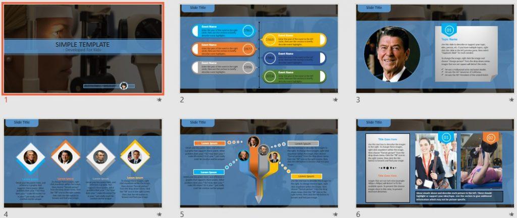Simple Kids PowerPoint - Optometry by SageFox