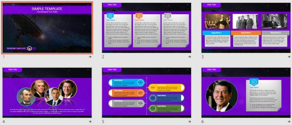 Simple Kids PowerPoint - satellite dish by SageFox