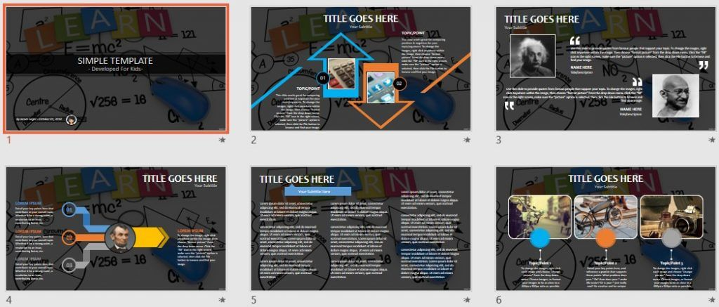 Simple Kids PowerPoint - Learn Concept by SageFox