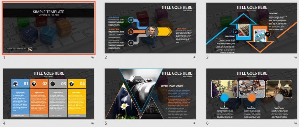 Simple Kids PowerPoint - social media by SageFox
