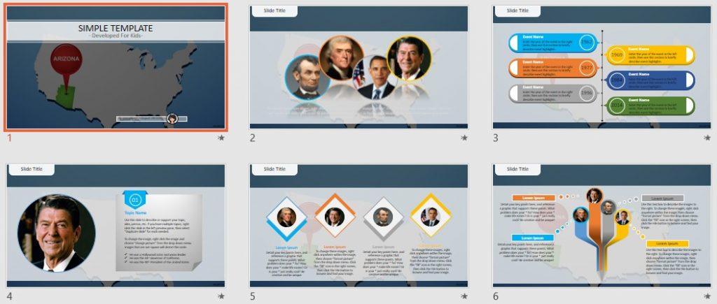 Simple Kids PowerPoint - Arizona by SageFox
