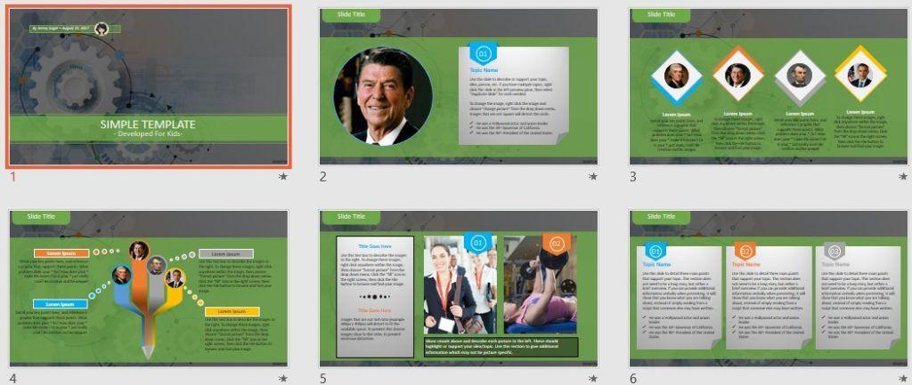 Simple Kids PowerPoint - gear wheel by SageFox