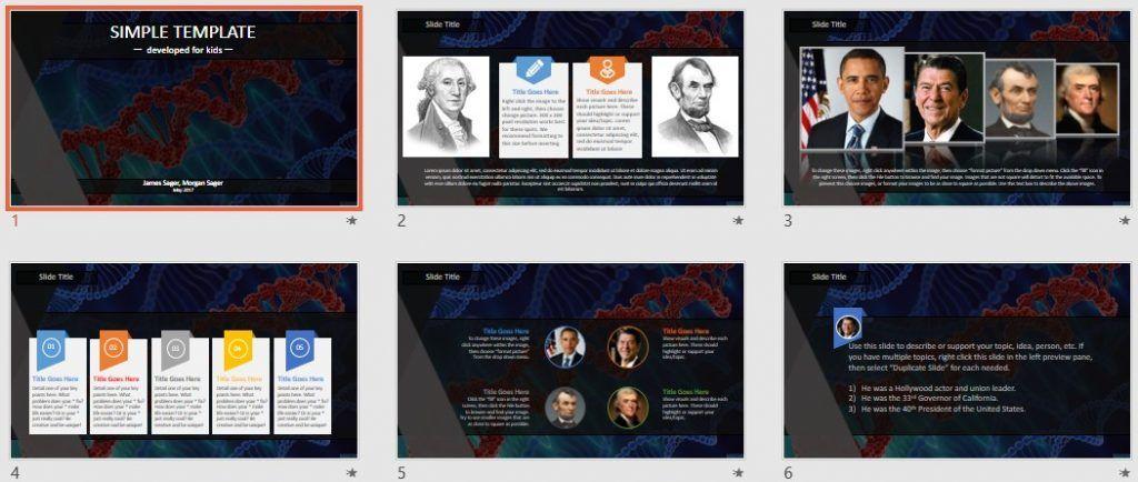 Simple Kids PowerPoint - dna by SageFox