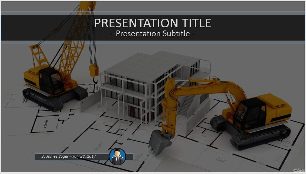 Free construction PowerPoint #84741 | SageFox PowerPoint Templates.