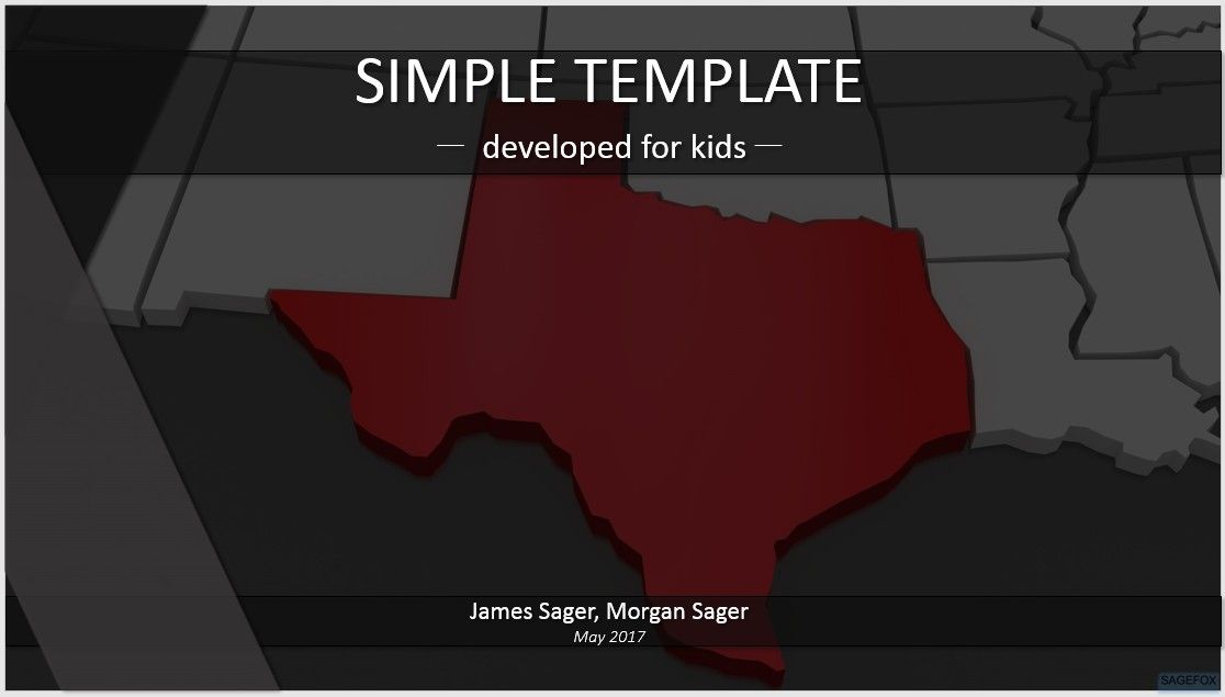 free simple kids powerpoint texas 84816 sagefox powerpoint templates. Black Bedroom Furniture Sets. Home Design Ideas