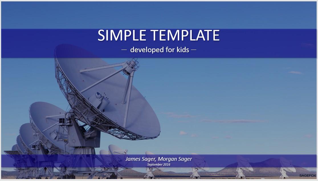 Free radio telescopes simple powerpoint 85316 sagefox please share this powerpoint template toneelgroepblik Gallery