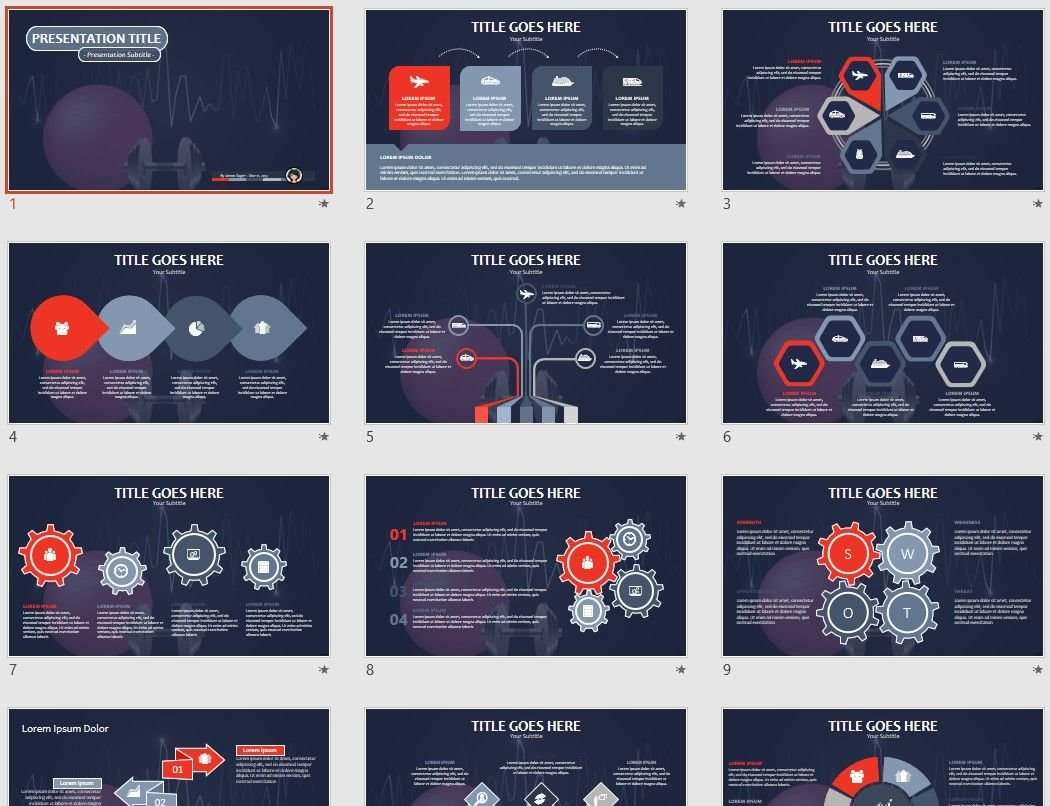 Free fitness powerpoint 85096 sagefox free powerpoint templates by james sager toneelgroepblik Images