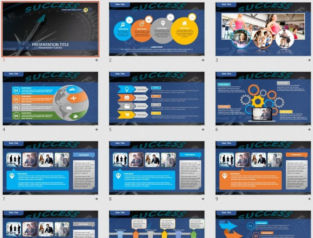 Success PowerPoint by SageFox