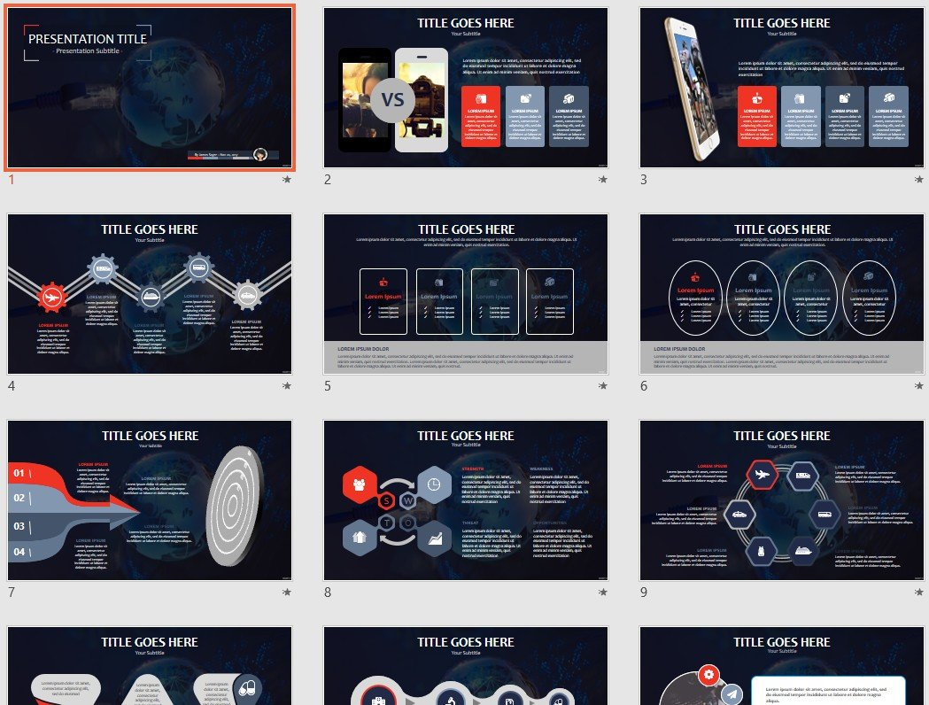 abstract networking PPT Template #85231 - SageFox Free