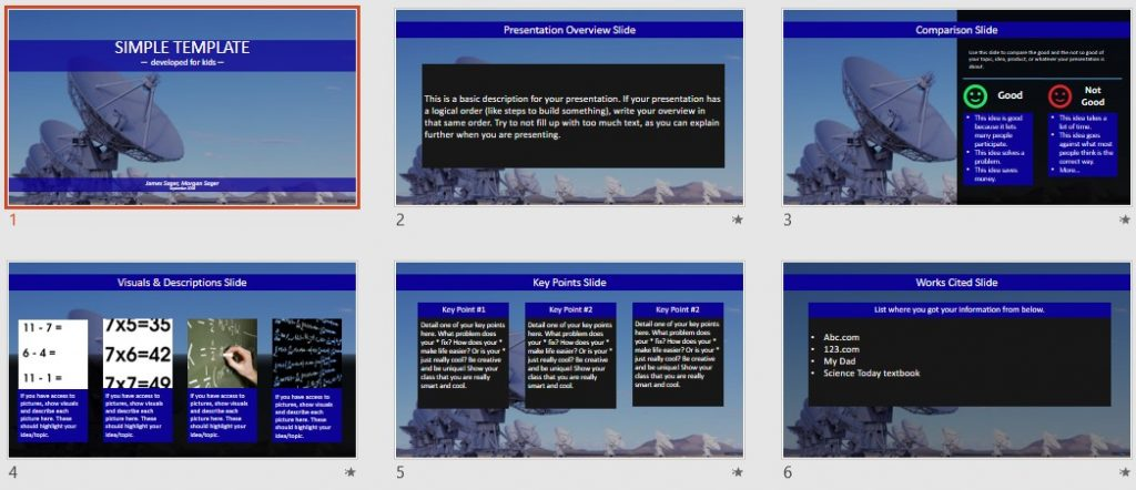 Radio Telescopes Simple PowerPoint by SageFox