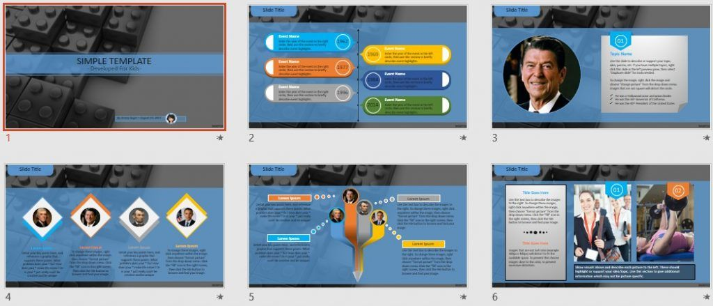 Simple Kids PowerPoint - Blocks by SageFox