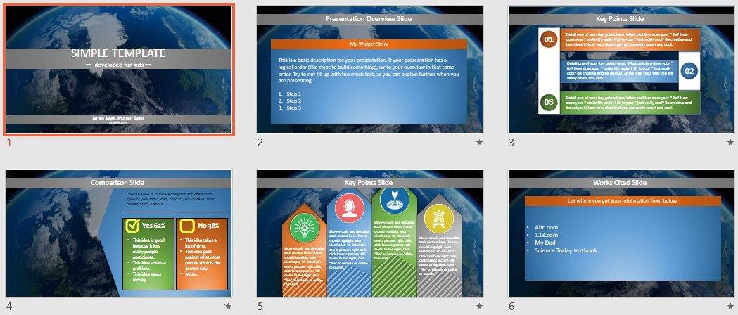 Free Simple Kids Powerpoint Earth 85972 Sagefox Free Powerpoint