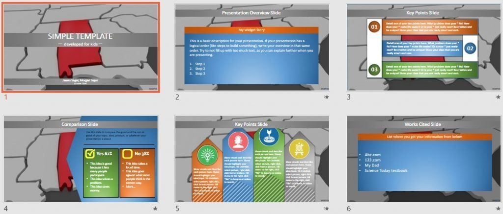 Simple Kids PowerPoint - alabama by SageFox