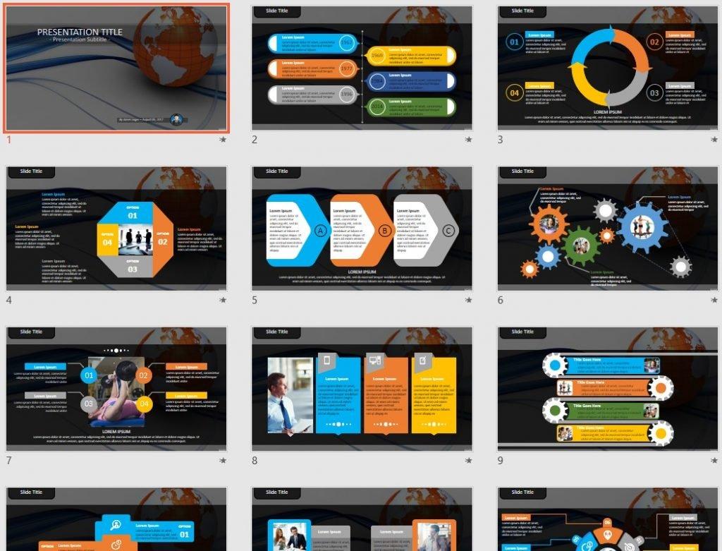 globe PowerPoint by SageFox