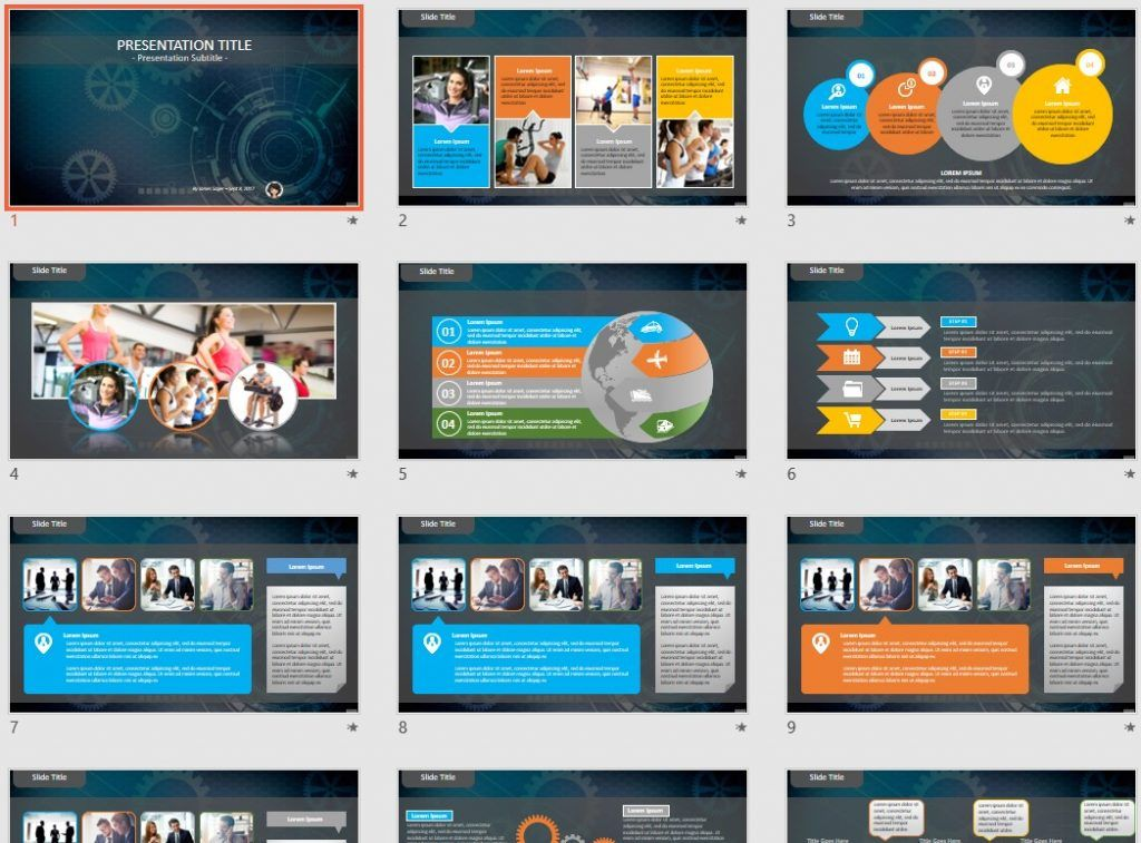 Digital Abstract PowerPoint by SageFox