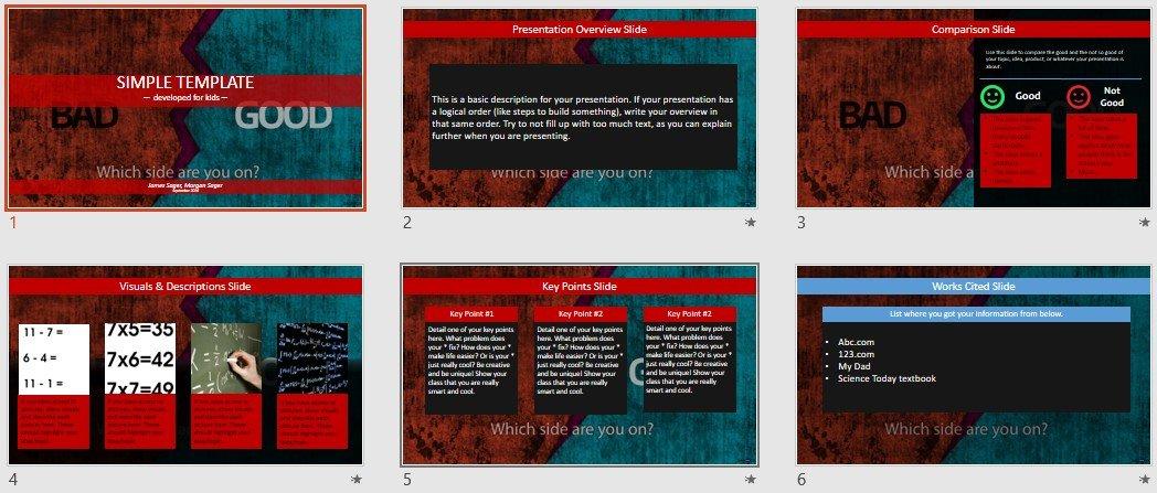 Free simple powerpoint bad vs good 86606 sagefox free by james sager toneelgroepblik Gallery