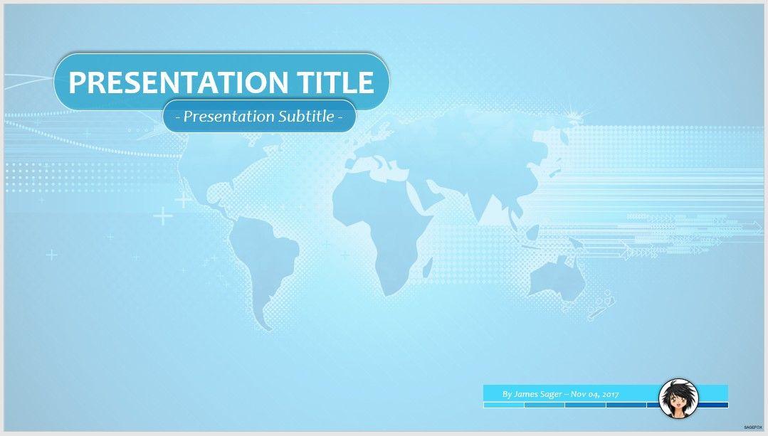 world map for ppt presentation
