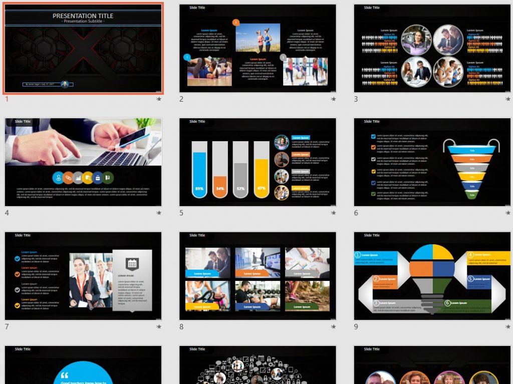 metallic PowerPoint by SageFox