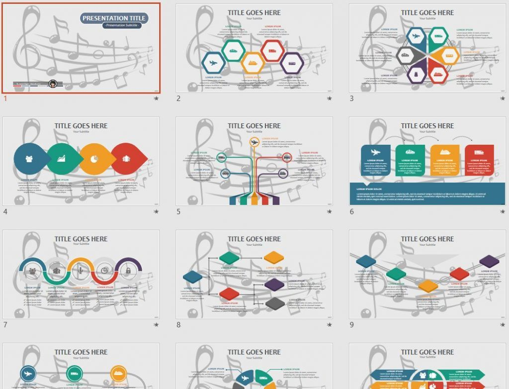 Music Notes PPT by SageFox
