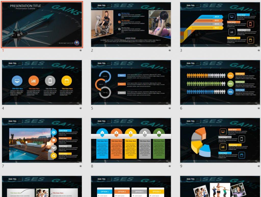 Gains PowerPoint by SageFox