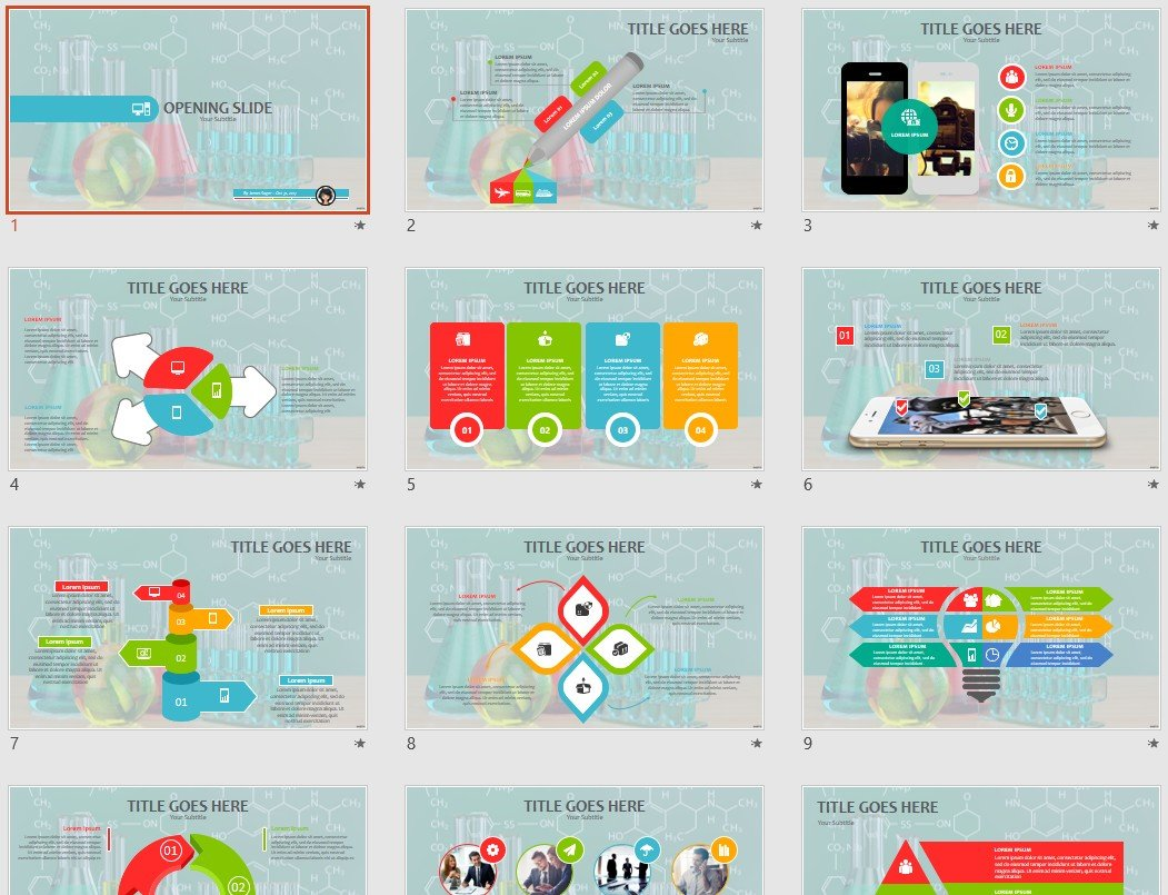 chemistry powerpoint template  88246