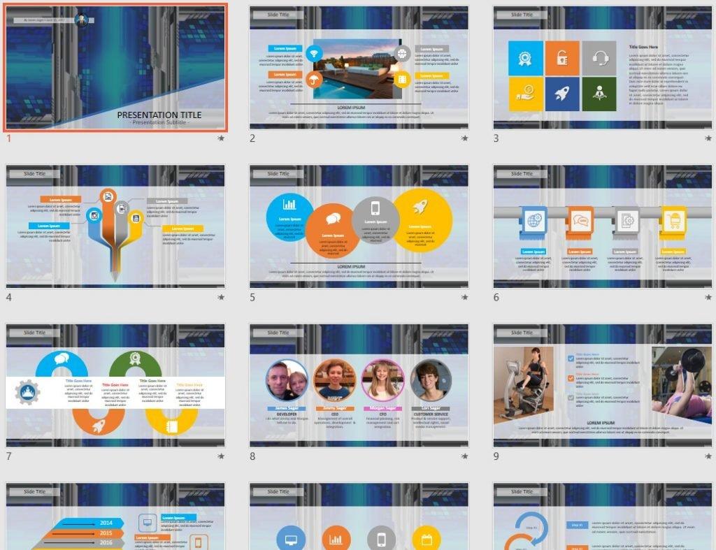 digital data PowerPoint by SageFox
