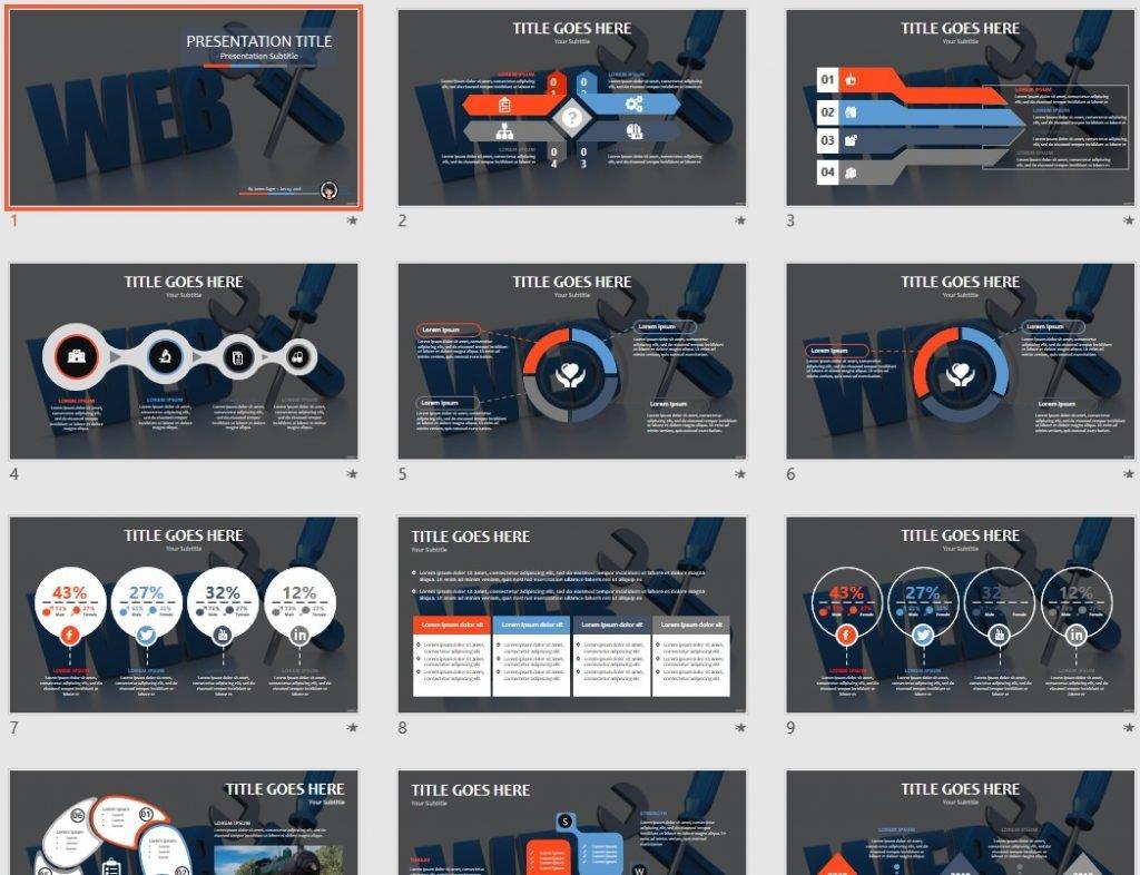 web development PPT by SageFox