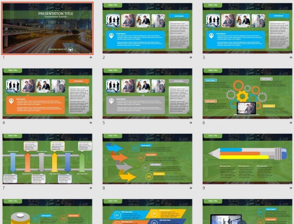 Traffic PowerPoint by SageFox