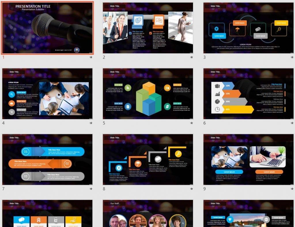 Microphone PowerPoint by SageFox