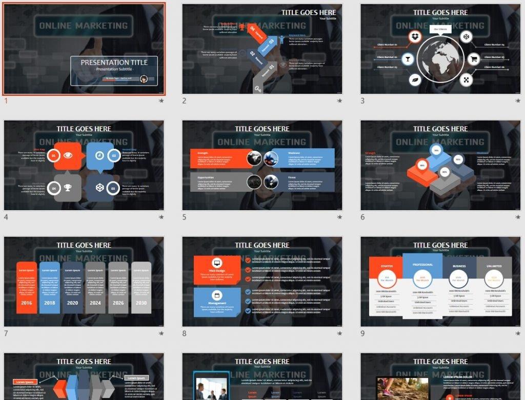 online marketing PowerPoint by SageFox