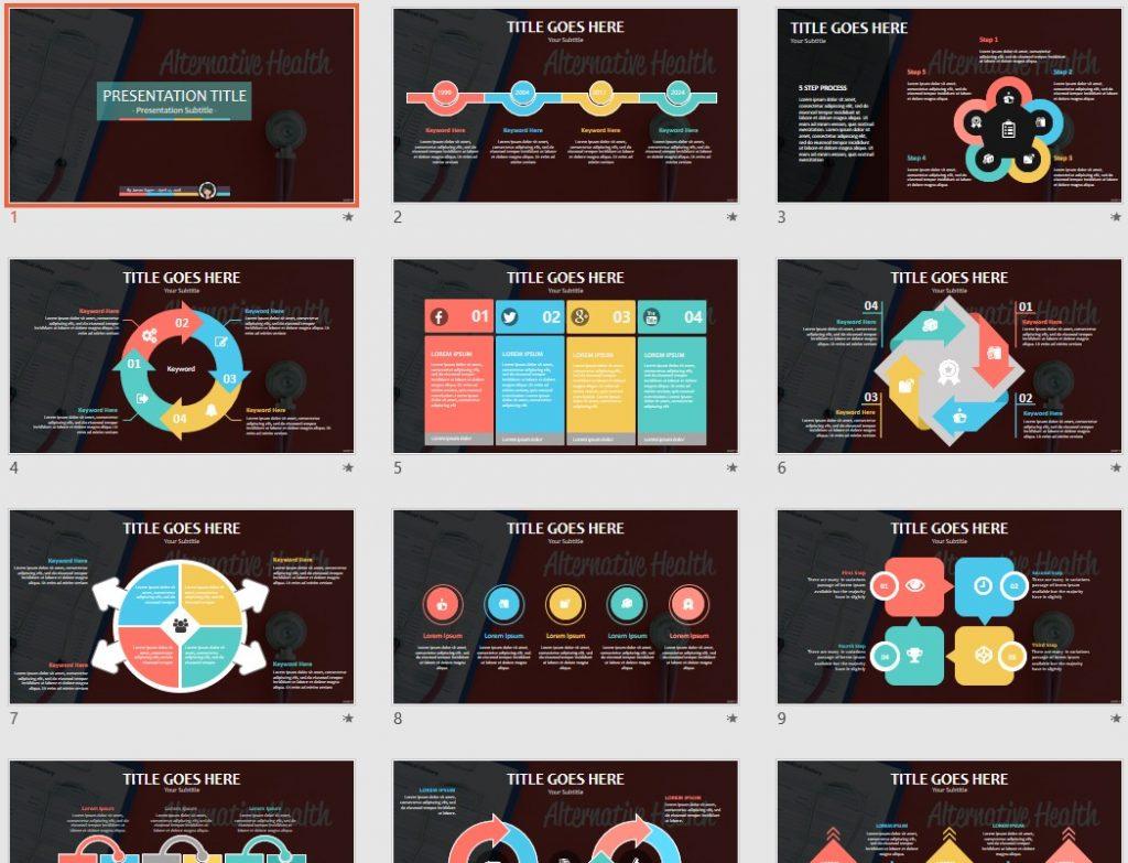 alternative health PowerPoint by SageFox