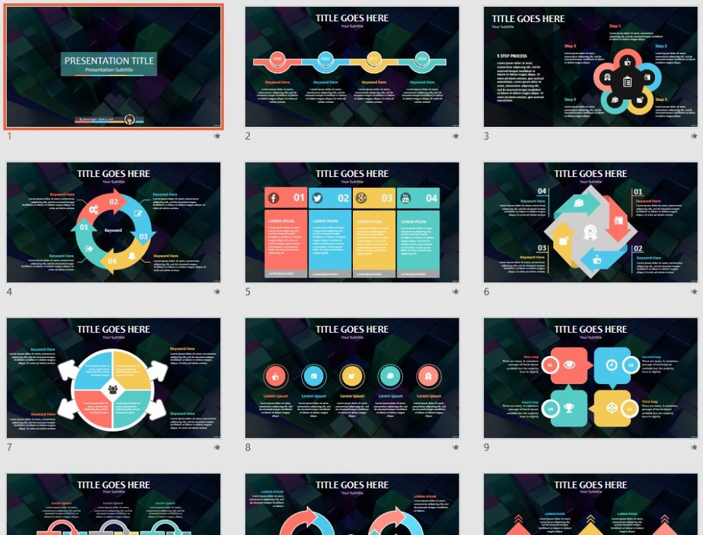 Free 3d abstract PowerPoint by SageFox