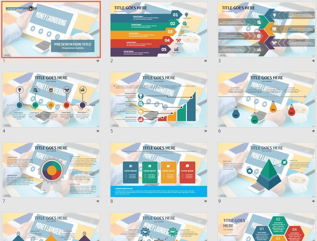 Money Laundering Powerpoint Template 90501