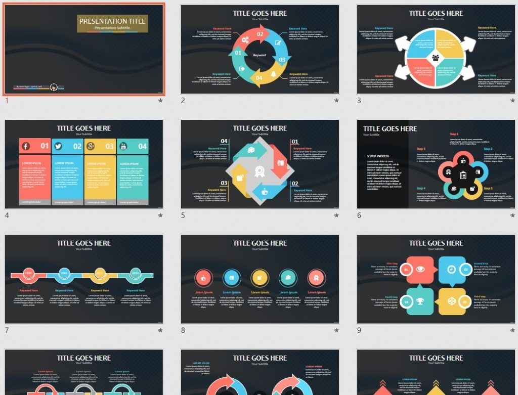 free abstract PowerPoint by SageFox