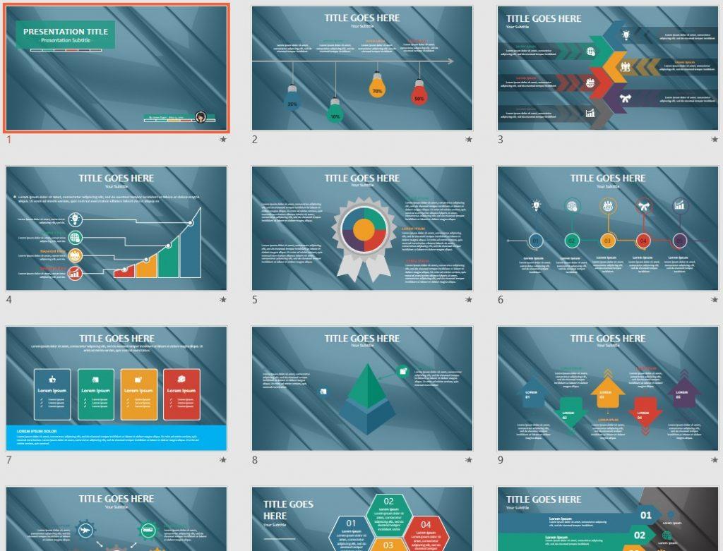 free metallic PowerPoint by SageFox