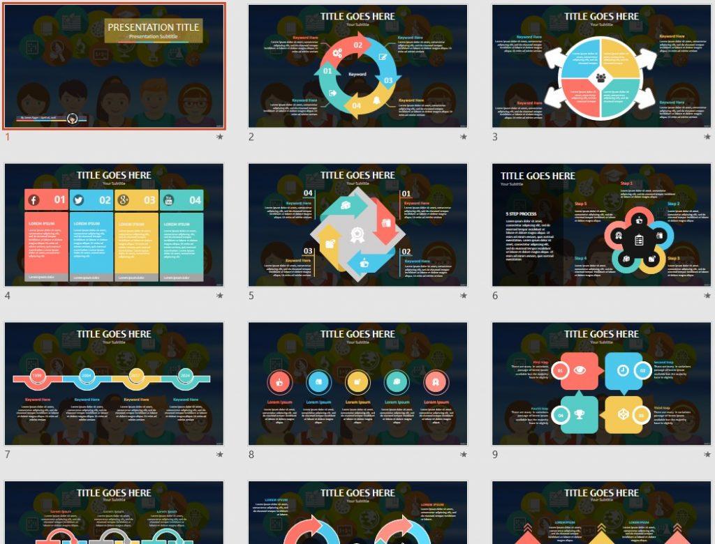 Kids and School PowerPoint by SageFox