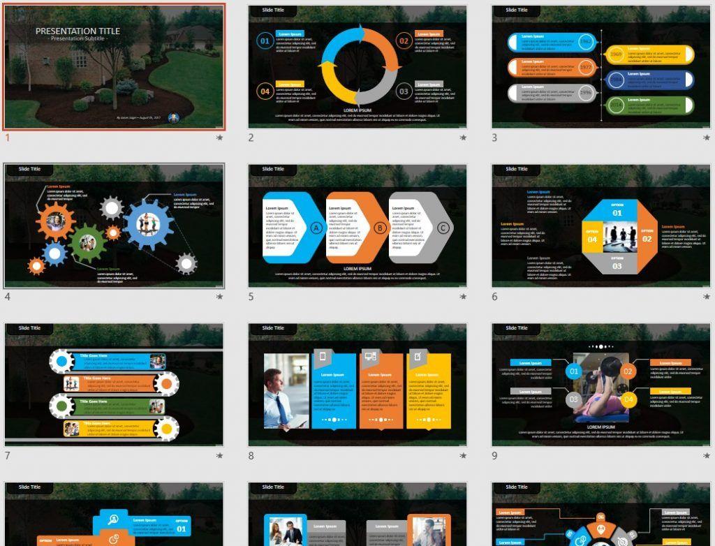 free landscape design PowerPoint by SageFox