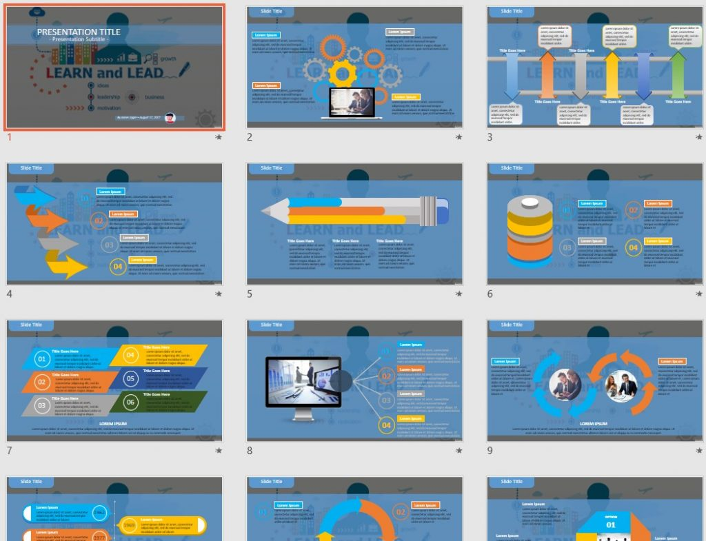 Learn and Lead PowerPoint by SageFox