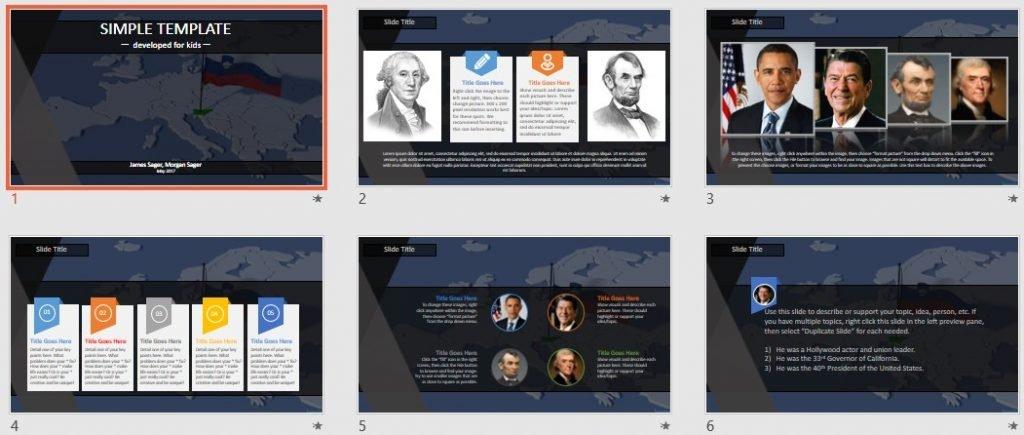 Simple Kids PowerPoint - slovenia by SageFox