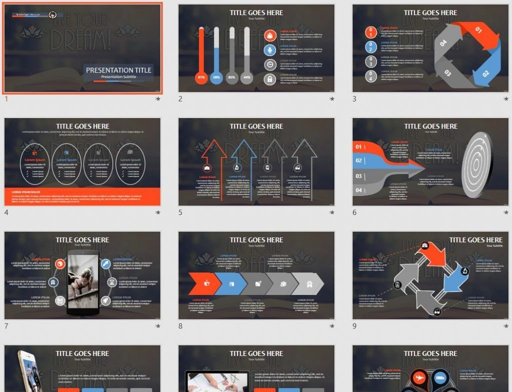 Free Live Your Dream Powerpoint 90841 Sagefox Free Powerpoint
