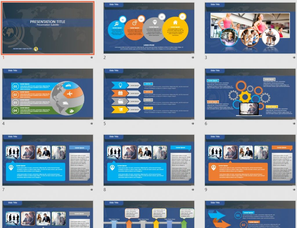 Free digital globe PowerPoint by SageFox