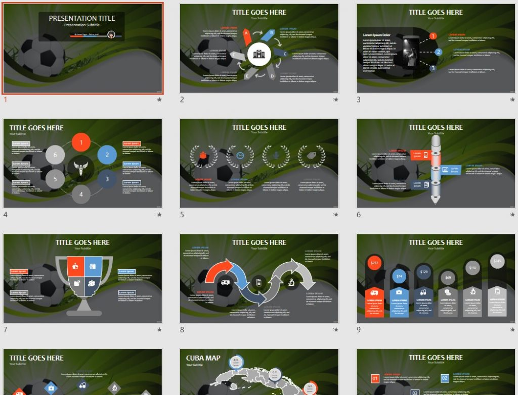 Abstract soccer PPT by SageFox