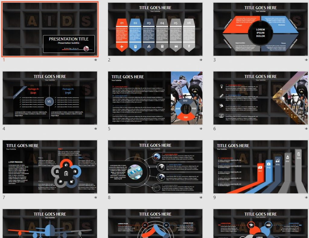 aids PowerPoint by SageFox