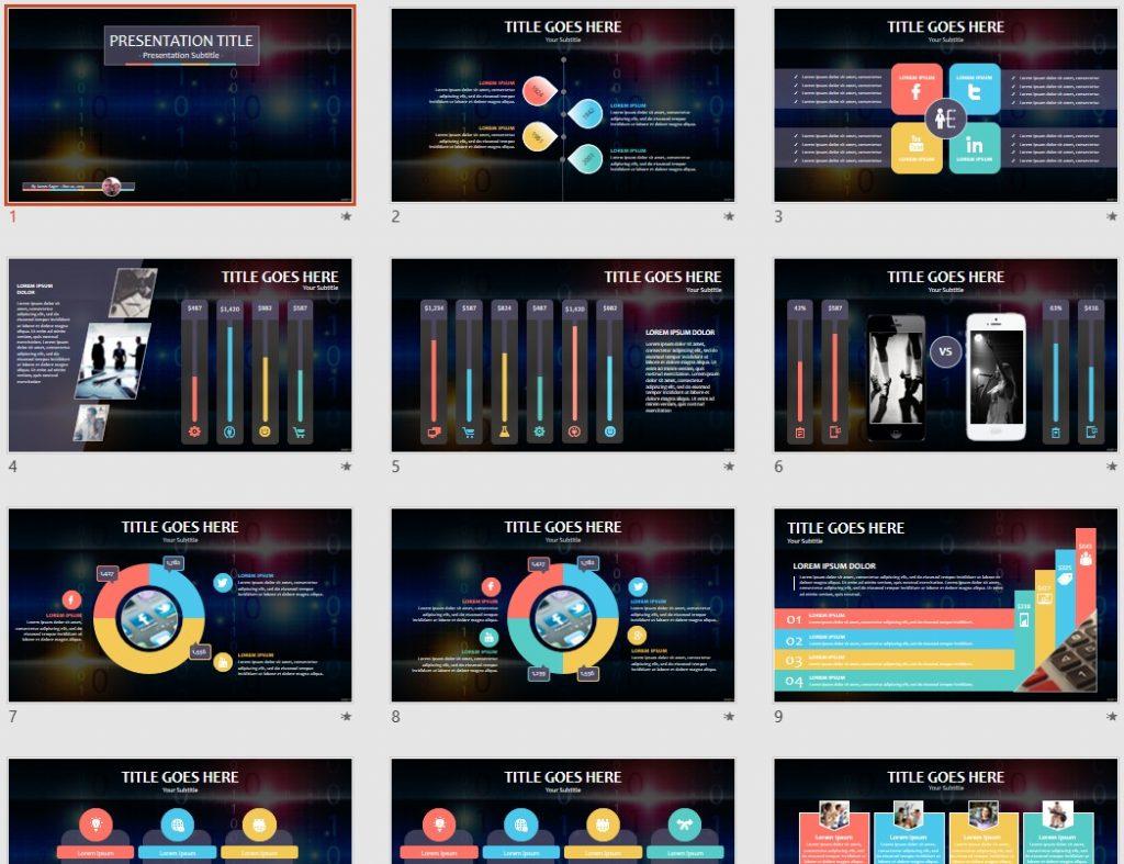 Digital tech PowerPoint by SageFox