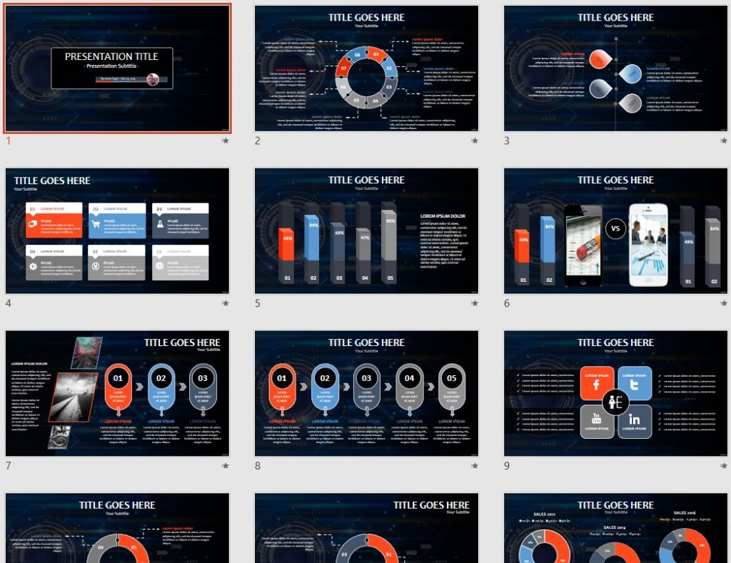 Abstract tech PowerPoint by SageFox