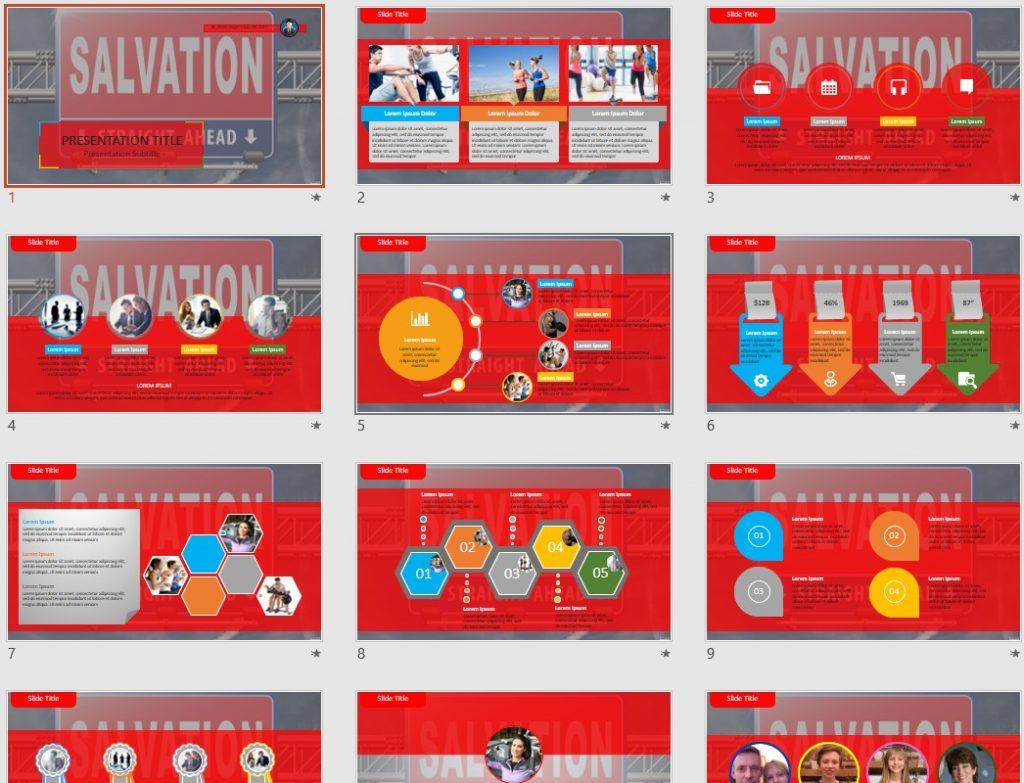 salvation ahead PowerPoint by SageFox